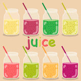 Vector set of the icons. lemonade illustration. Minimalist icons royalty free illustration