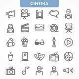 Vector set of icons. Royalty Free Stock Photography