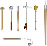 Vector set of icons medieval blunt weapon Royalty Free Stock Image
