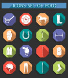 Vector set of icons polo in flat style Stock Images