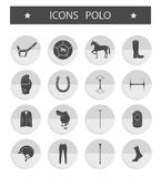 Vector set of icons polo Stock Photography