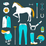 Vector set of icons polo Stock Image