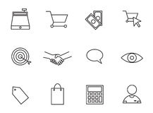 Vector set icons set for business and shopping Stock Photography