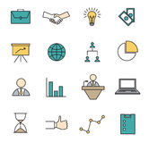 Vector set icons set for business Royalty Free Stock Image