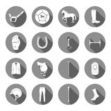 Vector Set of Icons and Sign of Polo Stock Photography