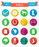 Vector Set of Icons and Sign of Polo Stock Image