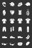 Vector set of icons sports clothes Royalty Free Stock Image