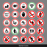 Vector set of icons Stock Images
