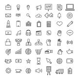 Vector set icons thin line concept business and technology conte royalty free illustration