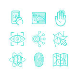 Vector set of icons in trendy linear style Royalty Free Stock Image