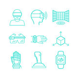 Vector set of icons in trendy linear style Stock Photography
