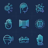 Vector set of icons in trendy linear style Stock Photos