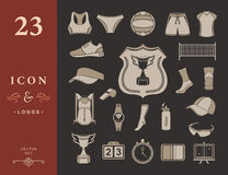 Vector set of icons volleyball Stock Image