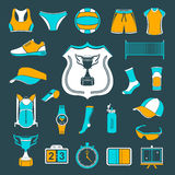 Vector set of icons volleyball Stock Photography