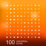 Vector Set of 100 Icons for Web Design. Vector Set of 100 Universal Icons for Web and User Interface Design stock illustration