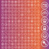 Vector set of icons for web and user interface Royalty Free Stock Photography
