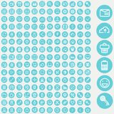 Vector set of icons for web and user interface Stock Photo