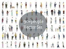 Vector set of illustrated people Stock Photography