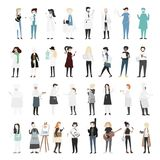 Vector set of illustrated people Stock Photos