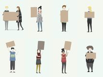 Vector set of illustrated people Stock Images