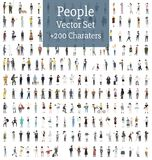 Vector set of illustrated people Stock Image