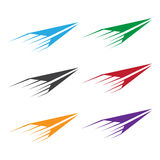 Vector set illustration of colorful paper Royalty Free Stock Photo