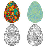 Vector set illustration of Easter egg Royalty Free Stock Photo