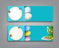 Vector set illustration. Easter vintage  sale banner, advertisin Royalty Free Stock Image
