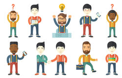 Vector set of illustrations with business people. Royalty Free Stock Image
