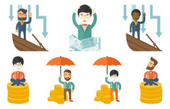Vector set of illustrations with business people. Stock Image