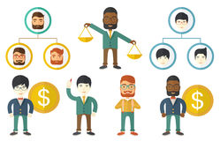 Vector set of illustrations with business people. Stock Photography