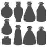 Vector set with the image of the vials, tubes. Stock Photography