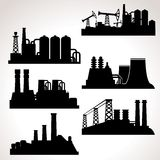 Vector Set of Industrial Buildings Royalty Free Stock Images