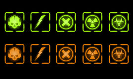 Vector set of industrial icons Royalty Free Stock Photos