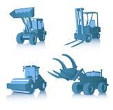 Vector set of industrial machi Royalty Free Stock Photos