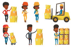 Vector set of industrial workers. Stock Photo