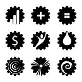 Vector set of industries signs Stock Photography