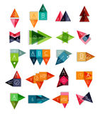 Vector set info banners templates collection Royalty Free Stock Photo