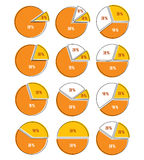 Vector set of infographic elements of circles, circular diagrams Royalty Free Stock Images