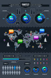 Vector set of infographics Stock Image