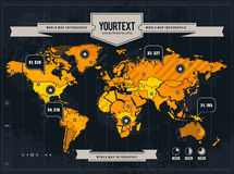 Vector set of infographics Stock Photography