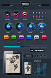 Vector set of infographics Royalty Free Stock Photos