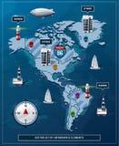 Vector set of infographics Stock Photos