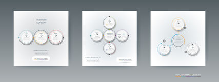 Vector set, infographics 3D circle label with options or steps Royalty Free Stock Photography