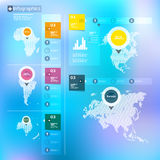 Vector set of infographics elements. Stock Photography
