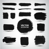 Vector set of ink brush strokes Stock Photos