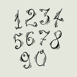 Vector set of    ink numbers. ABC for your design Stock Photos