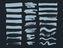 Vector set of ink splashes blots splatter collection grunge design element and art messy backdrop color dirty liquid. Vector set of ink splashes blots splatter Stock Image