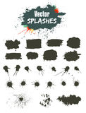 Vector Set of Ink Splashes . Grunge Ink Blots . Ink Blots Splash Collection . Every elements is on different layer for easy editing, Great for colorful Royalty Free Stock Photo