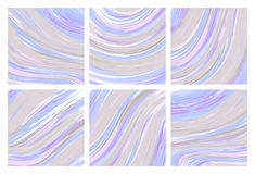 Vector set Ink texture watercolor hand drawn marbling illustration, abstract background, aqua print.  Royalty Free Stock Images